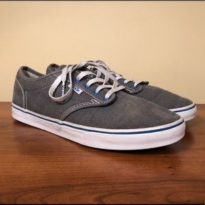 Vans Gray Lace Up Sneakers Women's size 7
